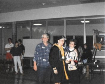 Dad, me and mom on senior night, 1993