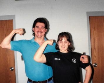 Coach Matt Lohsl and Kristy Griggs