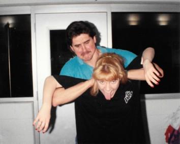 Coach Matt Lohsl and Christa Engle