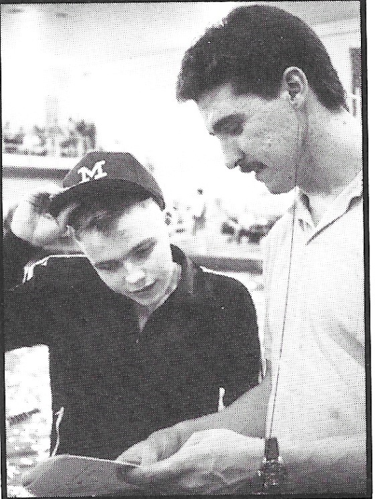 Matt Hutton and Coach Lohsl, 1990