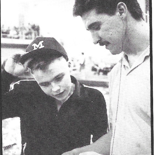 Matt Hutton and Coach Lohsl, 1990