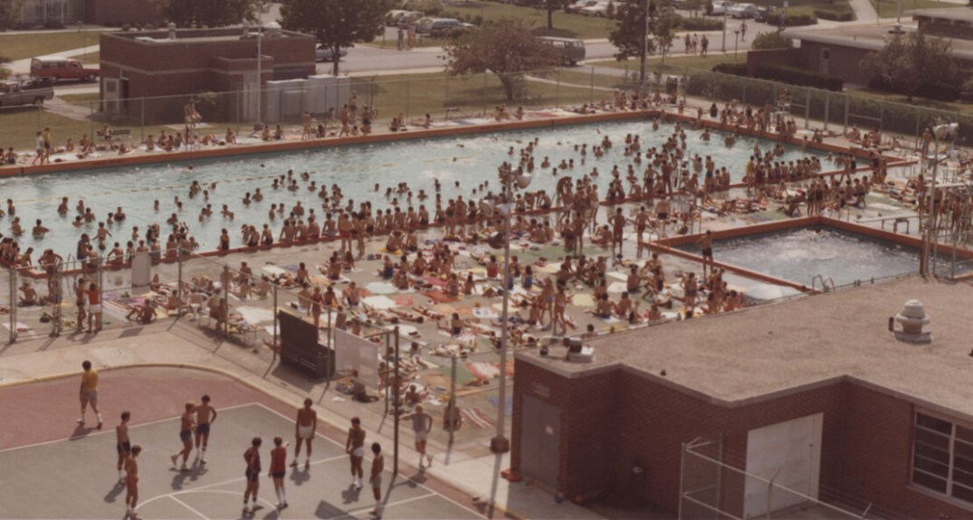 Purdue co-rec outdoor pool